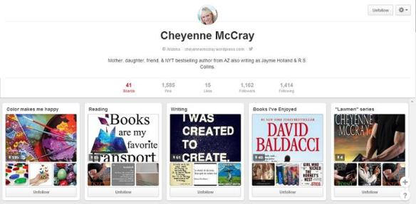 cheyenne mccray, pinterest, author, writer